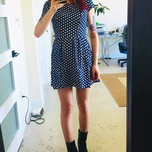 Blue & Cream Polka dot Topshop Summer Dress